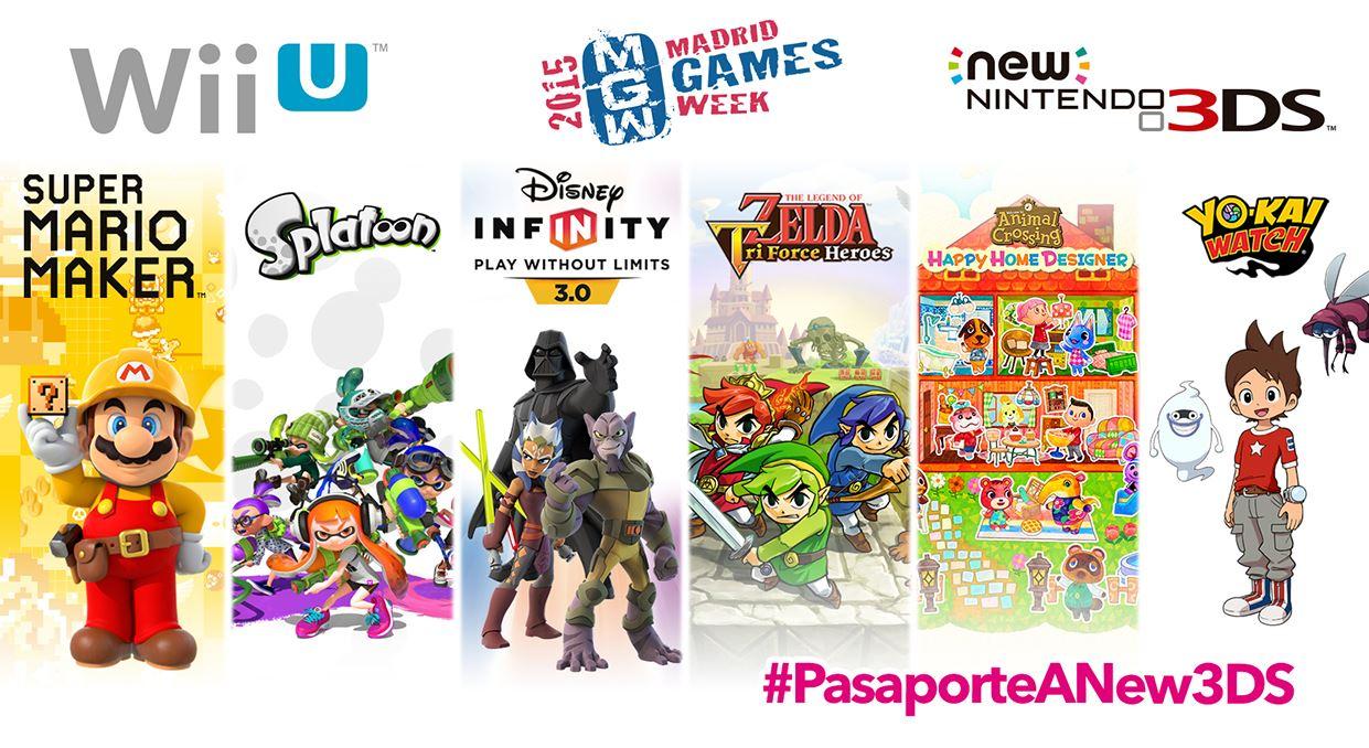 Catálogo Nintendo Madrid Games Week 2015